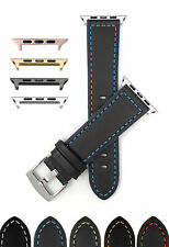 Leather Watch Band for Apple Watch Series 5 4 3 2 1 38 40 42 44mm and Extra Long