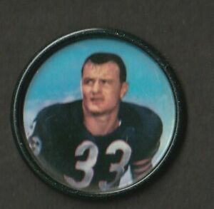 1962 Salada Tea Coin Junket Football #39 Larry Morris Bears Excellent JU21