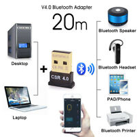 Bluetooth 4.0 USB 2.0 CSR 4.0 Dongle Adapter for WIN XP VISTA 7 8 10 PC LAPTOP L