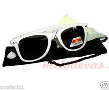 Gafas de sol Tipo Wayfarer Polarizadas Vintage UV400 Hombre Mujer Unisex blancas