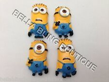 4 Minion Despicable Me Flat Back Resins Embellishments Hair Bow Cake Card