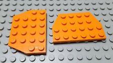 Lego Lot of 2 Orange 4x6 Cut Corner Plate Pieces