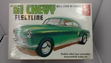 Vtg AMT NEW/SEALED '51 CHEVY FLEETLINE Model CAR Kit 1/25 1951 FASTBACK Classic