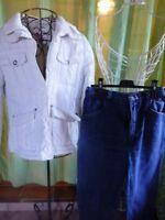 lot femme  T42doudoune blanche +et pantalon jeans