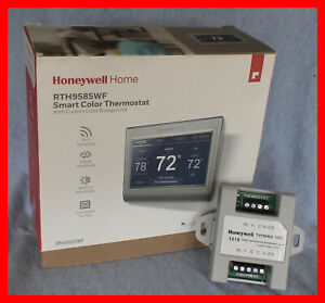 """Honeywell RTH9585WF WiFi SMART Color Thermostat with Add a """"C"""" Wire Module"""