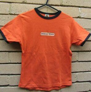 TCB Official Merchandise Bright Orange T-Shirt-'The League Of Gentleman' Size S