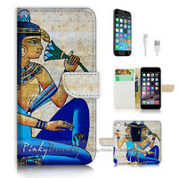 ( For iPhone 7 Plus ) Wallet Case Cover P3063 Egypt Queen