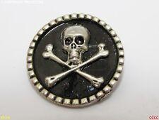 steampunk brooch badge skull & crossbones pirate Assassin's creed black sails