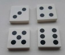 Lego Dice 2x2 Tile Decorated, Three, Four, Five & Six, Part 3068