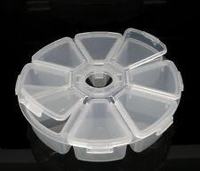 1 Boîte de rangement pr perles Ronde Transparent 11cm