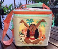 Disney Moana Pua & Hei Hei Lunch Tote Bag Insulated School Glitter Embroidery
