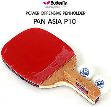 [Butterfly] PAN ASIA P10 Table Tennis Racket Paddle Pen Holder Grip Ping Pong