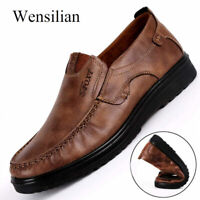 Luxury Men Flats Shoes Leather Slip-on Loafers Mocassin Homme Male Casual Shoes