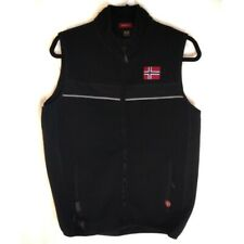 Dale of Norway Windstopper Mens Wool Vest SZ M Black and Grey/Gray EUC