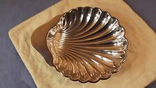 An Antique English Silver plated Footed Shell Shaped Dish #39638 w/Marker Mark