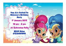 Personailsed Nick Jr Shimmer And Shine Birthday Party Invitations - Pack of 12