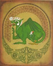 Irish Mythology Etching of a Dragon - Numbered and signed by Artist