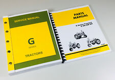 Service Manual Parts Catalog For John Deere G Gn Gw Gh Tractor Shop Book Ovhl