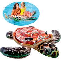 "Intex Inflatable 59"" Large Sea Turtle Kids Ride-On Swimming Pool Floating Float"