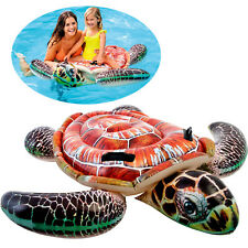 "Intex Inflatable 59"" Large Turtle Kids Ride-On Water Toy Pool Floating Floats"