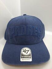 San Diego Padres '47 MVP DP Blue Strapback Hat Cap