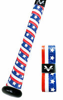 VULCAN ADVANCED POLYMER BAT GRIPS - ULTRALIGHT 0.50 MM - STARS & BARS