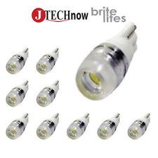 Jtech 10x T10 1.5W Super Bright Xenon White PIR Lens LED Bulb 194 168 2825 W5W