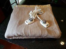 Sunbeam Heated Electric Blanket King Dual Controller Tan. Very Warm/Hot