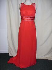 Ladies Long Dress LIGHT IN THE BOX red UK 12, US 8, EU 38, deep slits, mesh 2522