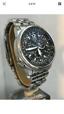 Citizen Men's Chronograph Radio Controlled Pilot Steel Bracelet Watch AS4120-52E