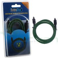 Cavo cavetto ottico ExtraStar digitale audio TosLink fibra ottica 1.8M ES1