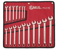 17PC Metric Open End Boxed End Combination Wrench Set PR-017M-Lifetime warranty