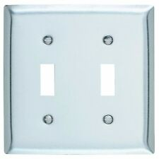 Electrical Switch Cover Stainless Steel Finished 2 Gang Toggle Metal Wall Plate