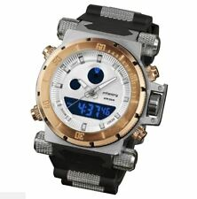 INFANTRY® Mens Analogue - Digital Wrist Watch Chronograph Night Vision Gold Tone