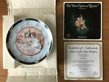 "Wallplate ""Once Upon a Rhyme""~ ""Star Light,Star Bright "" Heinrich Porzellan"