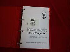 Werkstatthandbuch MASERATI Quattroporte V8 Evo  für Motor - workshop manual