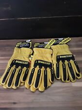 Lot Of 3 Ironclad Ultimate 360 Premium Leather Work Gloves Size Large
