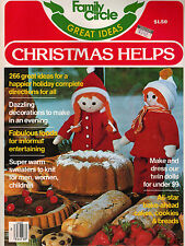 Family Circle Christmas Helps 1977 Crochet Needlepoint Knit Crafts Recipes