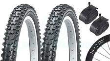 2 Bicycle Tyres Bike Tires - Mountain Bike - 14 x 2.125 - With Schrader Tubes