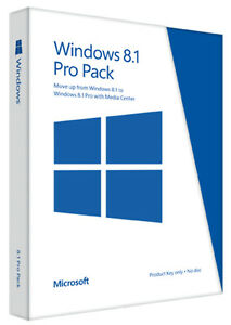 Microsoft Windows 8.1 Pro Pack - Product Key Only_Brand New