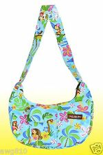 Banana shaped Hawaiian print purse - 312Aqua