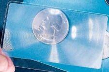 6 PACK CREDIT CARD MAGNIFIER - 3X MAGNIFYING FRESNEL LENS