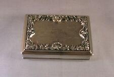 ANTIQUE STERLING SILVER SNUFF BOX BY EDWARD JOSEPH, BIRMINGHAM, 1836