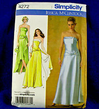 Simplicity 4272 Formal Evening, Prom Gown, Wrap, Purse Sewing Pattern Sz 16-24