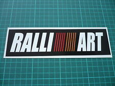 RALLIART black Stickers  200mm - Mitsubishi