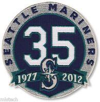 MLB Baseball Patch Seattle Mariners 35th Years Anniversary 1977 - 2012