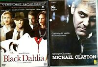 SERATA THRILLER - BLACK DAHLIA (2006) +  MICHAEL CLAYTON (2007) -  2 DVD