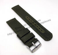 Seiko 5 - SNZG09K1 - 7S36-03J0 - Comp. 22mm Green Nylon Knit Watch Band Strap