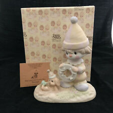 Vintage Precious Moments The Lord Will Carry You Through Figurine with Box