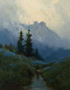 Sydney Laurence Alaska Wild Iris Canvas Print 16 x 20   #3432